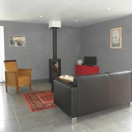 le salon - Location de vacances - La Baussaine