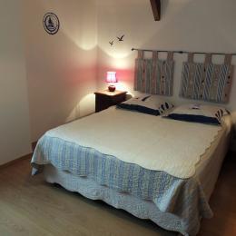 chambre avec lit de 160/200 - Chambre d'hôtes - Hirel