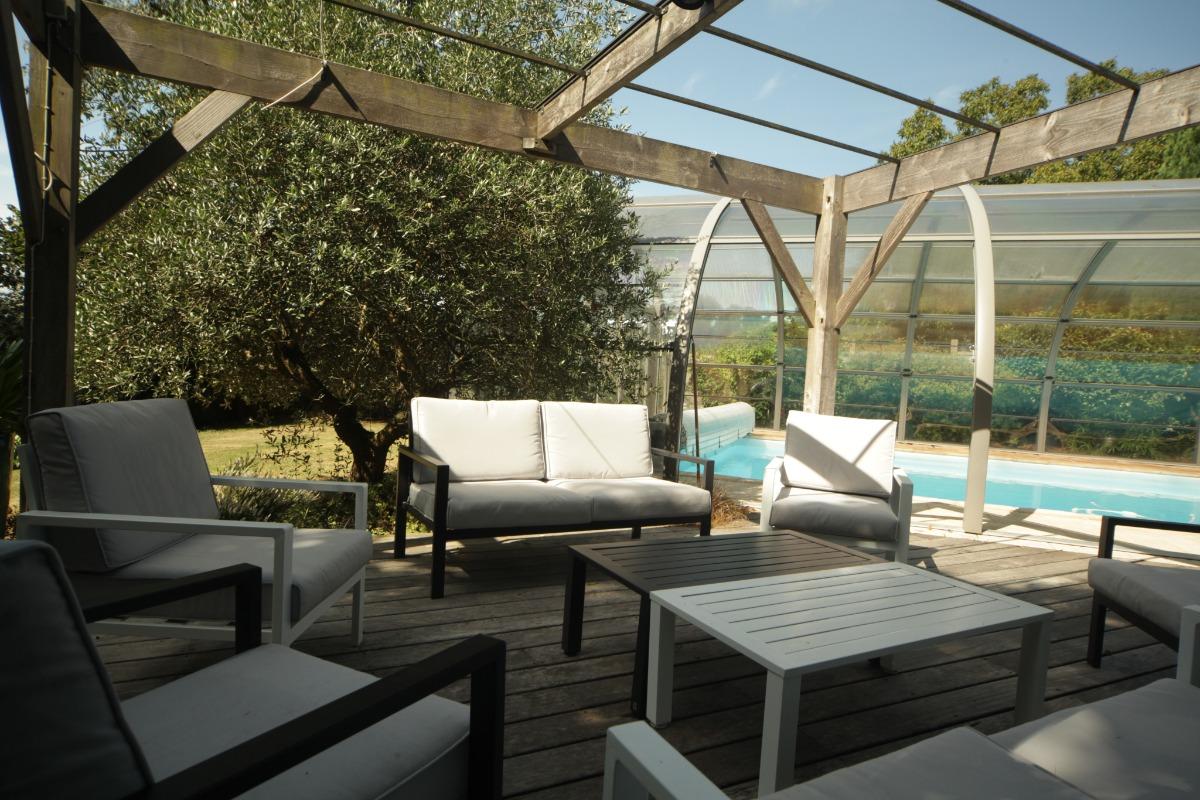 Le salon de jardin - Les Agapanthes  - Location de vacances - Meillac