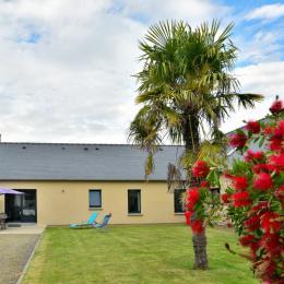 Le séjour et la cuisine ouverte ouvrant sur le jardin - Location de vacances - Dol-de-Bretagne