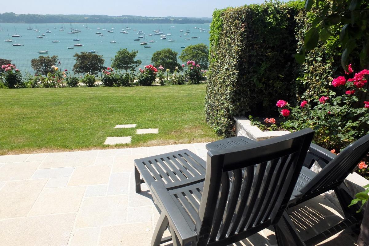 Large vue sur l'embouchure de la Rance depuis la terrasse - Location de vacances - Saint-Suliac