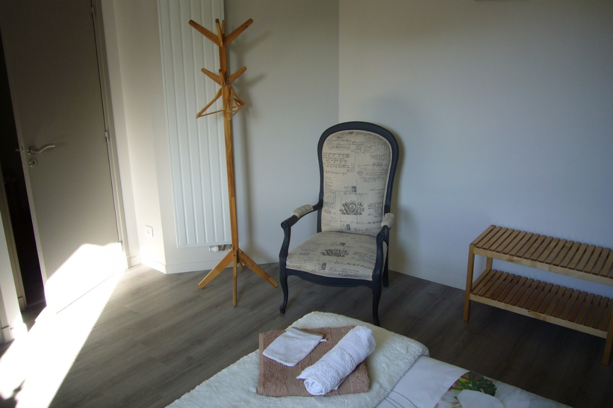 Un fauteuil à votre disposition pour vous relaxer - Chambre d'hôtes - Hédé - BAZOUGES