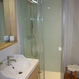La salle d'eau communicante avec la chambre. - Chambre d'hôtes - Hédé - BAZOUGES