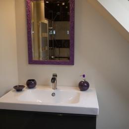 Salle d'eau avec douche italienne - Chambre d'hôtes - Hédé - BAZOUGES