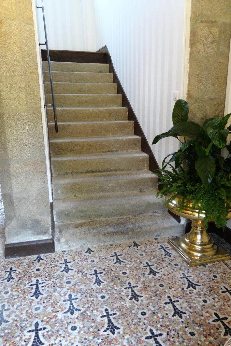Une mosaïque Odorico père (fin XIXème) - Chambre d'hôtes - Saint-Léger-des-Prés
