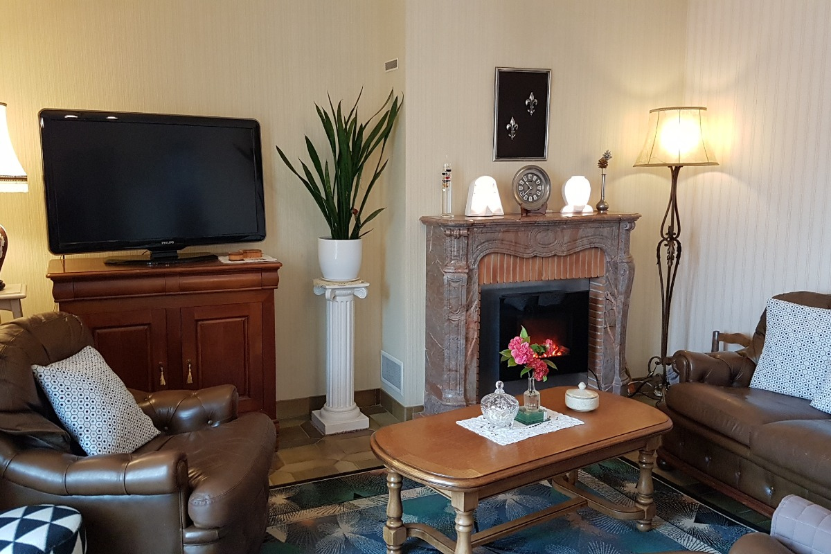 L'espace salon avec TV à votre disposition - Chambre d'hôtes - Dol-de-Bretagne