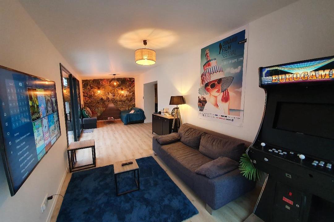 Le salon - Location de vacances - Dinard