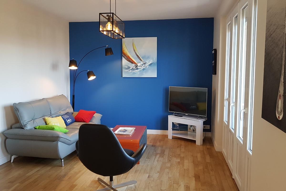 L'espace repas dans la pièce de vie - Location de vacances - Saint-Malo