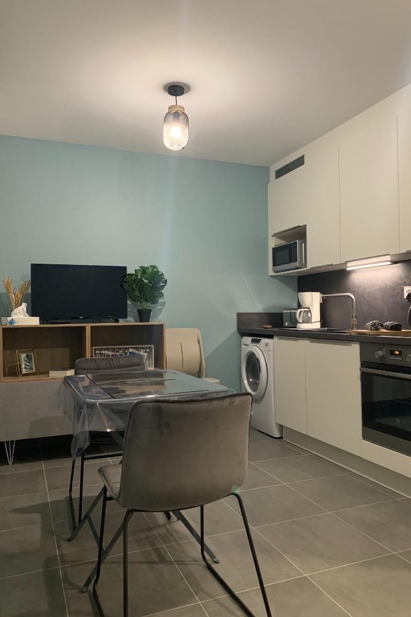 Séjour cuisine moderne Studio Hermine Saint Malo - Location de vacances - Saint-Malo