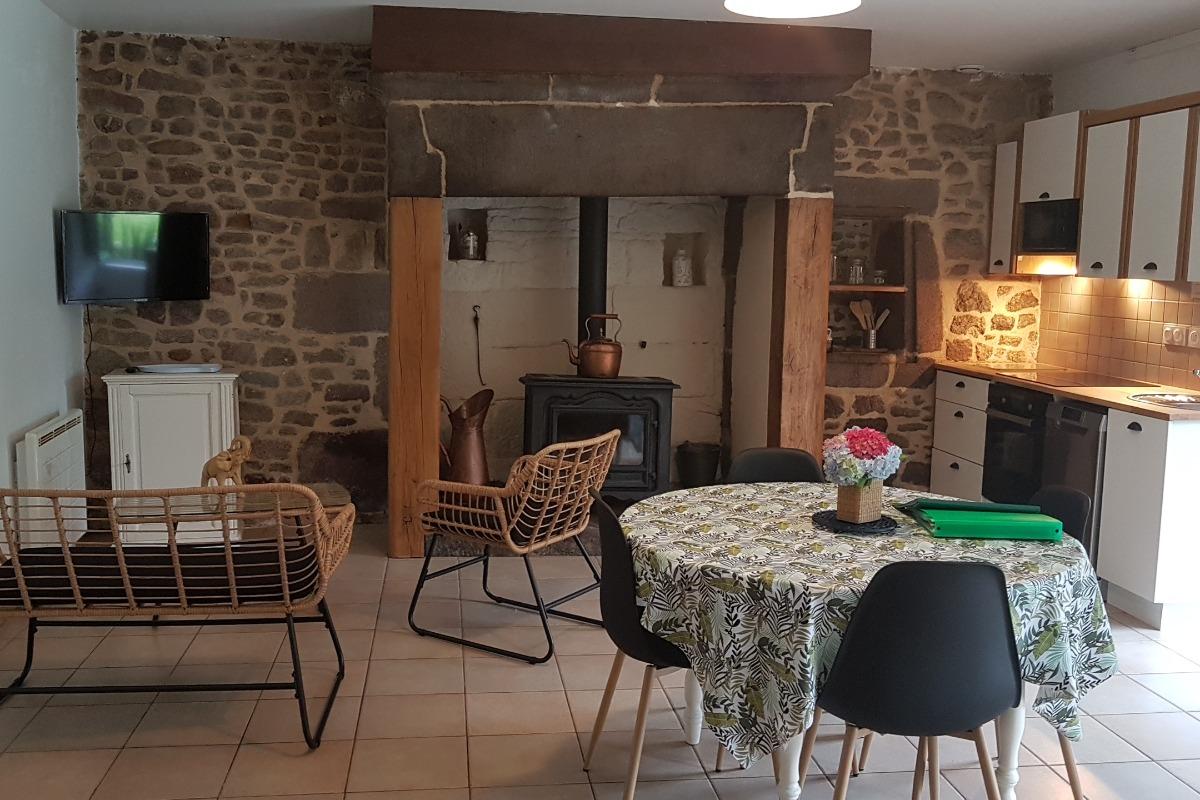 La pièce de vie - Location François - Gîtes Atala - Location de vacances - Combourg