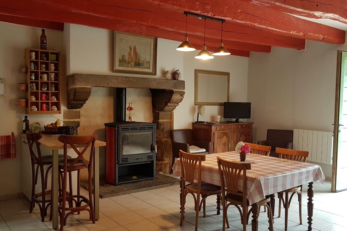 La pièce de vie - Maison René - Gîtes Atala - Location de vacances - Combourg