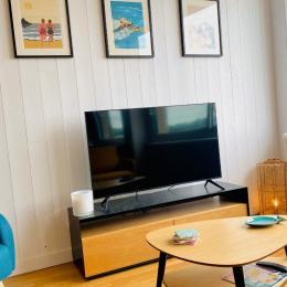 La télévision full HD connectée à la fibre optique - Location de vacances - Cancale
