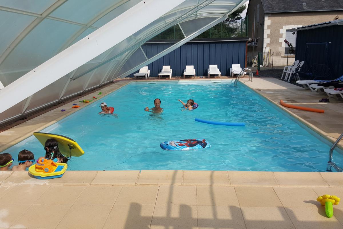Piscine - Location de vacances - Veuil