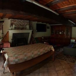 Salle à vivre - Location de vacances - Veuil