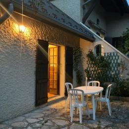 la terrasse le soir - Location de vacances - Villard-de-Lans