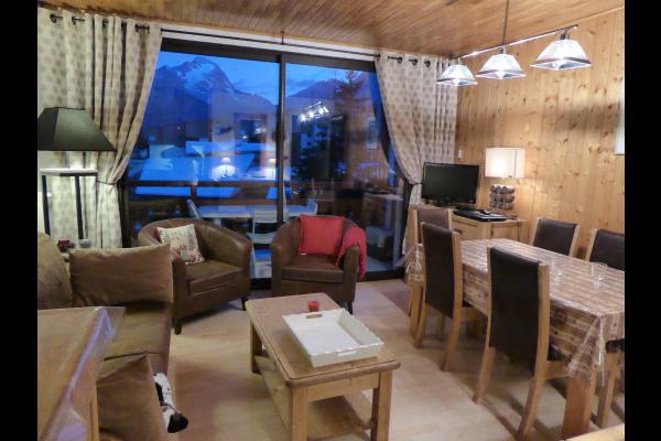 séjour vue pistes grand balcon sud - Location de vacances - les Deux Alpes