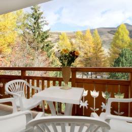 vue du balcon en hiver - Location de vacances - les Deux Alpes