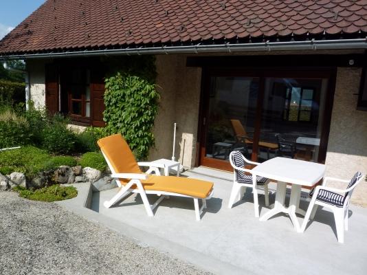 Terrasse, exposition Ouest - Location de vacances - Saint-Pierre-d'Entremont