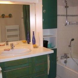 Salle de bain avec lave-linge - Location de vacances - Grenoble