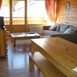 Appartement duplex style montagne refait complètement à neuf aux Deux Alpes - coin salon - Location de vacances - les Deux Alpes