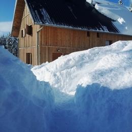 En hiver, il faut savoir se faufiler entre la neige ! - Location de vacances - Plateau-des-Petites-Roches