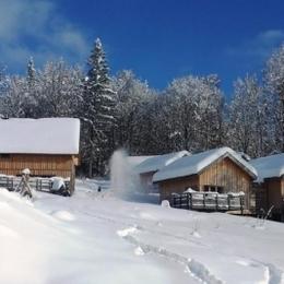 Le centre en ambiance plein hiver (février 2013) - Location de vacances - Plateau-des-Petites-Roches