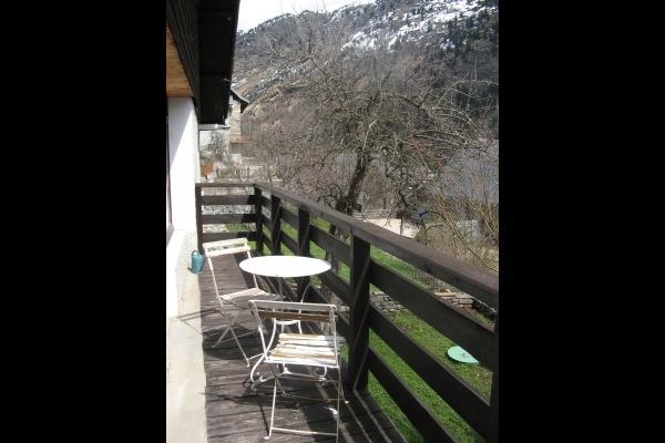 La chambre montagne sur balcon