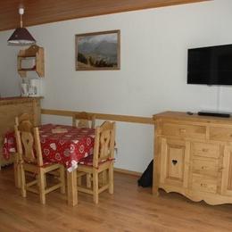 Salon / Appartement pour 4 personnes (Les Deux Alpes - Centre Station - Pied des Pistes - Ambiance Montagne) - Location de vacances - les Deux Alpes