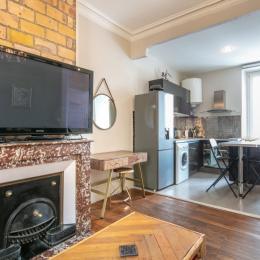 chambre indépendante lit double - Location de vacances - Grenoble