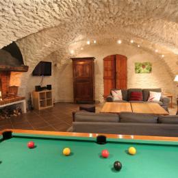 Chalet avec piscine à débordement, sauna, hammam et spa aux Deux Alpes - Salon - Location de vacances - Vénosc