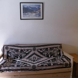 Appartement au coeur de la station des Deux Alpes (station de ski en Isère) - Canapé gigogne (1 couchage 2 personnes ou 2 couchages 1 personne) - Location de vacances - les Deux Alpes
