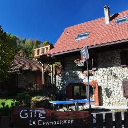 jardin avec barbecue, ping pong, basket, trampoline - Location de vacances - Saint-Mury-Monteymond