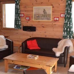 Location chalet aux Deux Alpes Isère - coin salon - Location de vacances - Vénosc