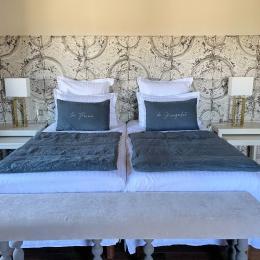 Chambres d'hôtes séduction, charme, calme, sérénité, luxe à 20 min de Lyon - Chambre Courtisane - Chambres d'hôtes - Ferme de Gringalet - Chambre d'hôtes - Anthon