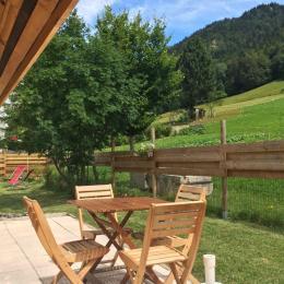 Terrasse en pleine nature - Location de vacances - Autrans - Méaudre en Vercors