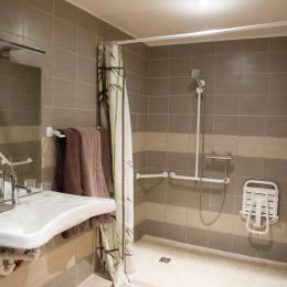 Chambres d'hôtes entre Lyon et Grenoble proche Bourgoin Jallieu - chambre avec salle d'eau adaptée aux personnes à mobilité réduite - Chambre d'hôtes - Meyrié