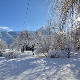 Vue hivernale vers le PN des Ecrins - Chambre d'hôtes - Le Bourg-d'Oisans