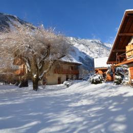 l'ensemble des petites sources en hiver - Chambre d'hôtes - Le Bourg-d'Oisans