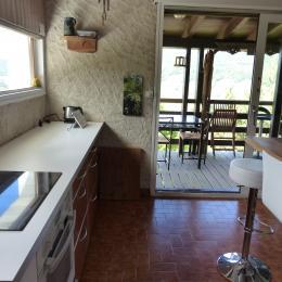 cuisine balcon ouest bar - Location de vacances - Lans-en-Vercors
