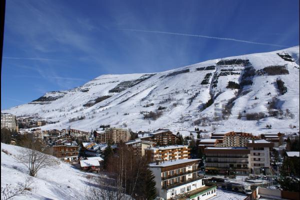 vue sur la station du balcon l'hiver - Location de vacances - les Deux Alpes