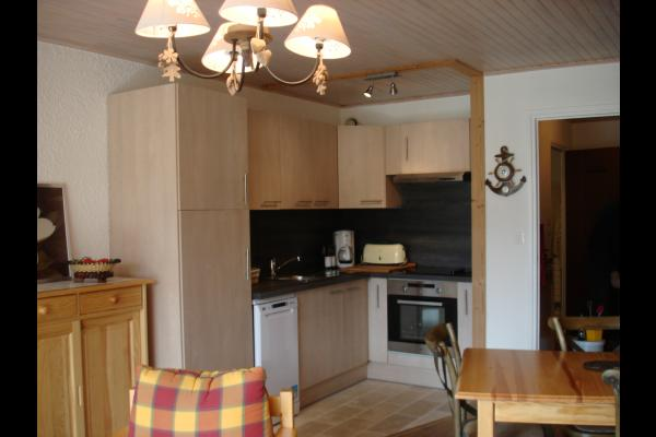 Appartement rénové aux pieds des pistes aux Deux Alpes (Isère)- CUISINE  - Location de vacances - les Deux Alpes