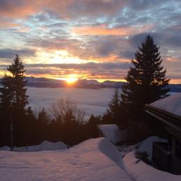 déclinaison des coucher de soleil vus du chalet - Location de vacances - Chamrousse