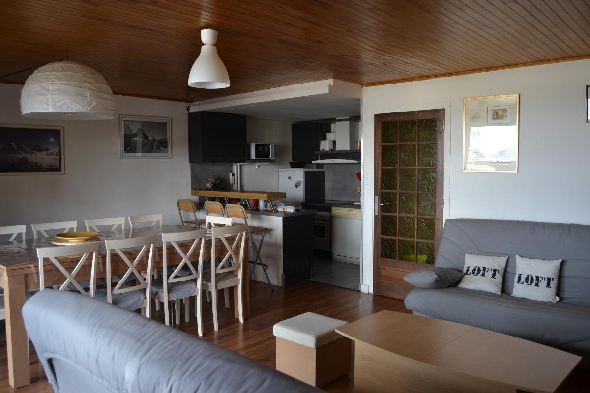 salon cuisine - Location de vacances - Deux-Alpes