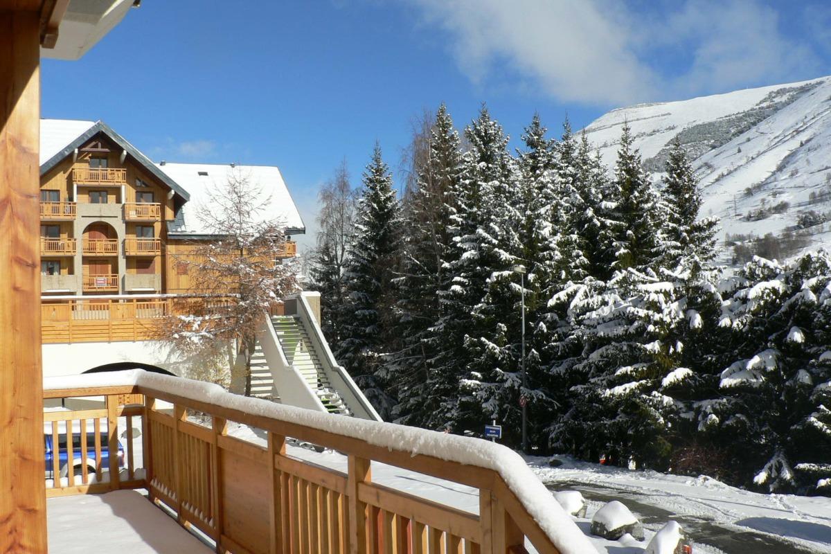 vue balcon - Location de vacances - Deux-Alpes