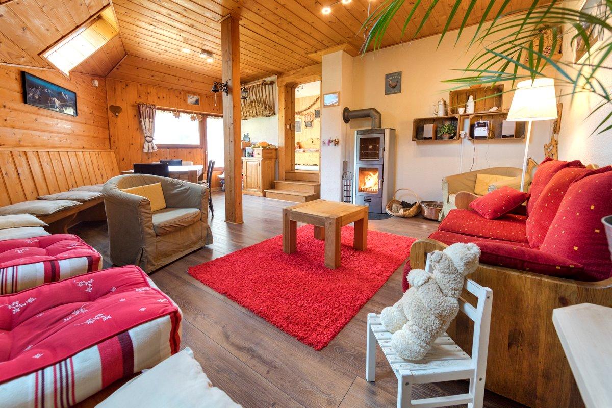 Gîte le Montbrand (Autrans, 15 pers) - salon - Location de vacances - Autrans - Méaudre en Vercors