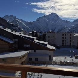 La Muzelle vue du balcon - Location de vacances - les Deux Alpes