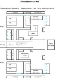 2 appartements 4 à 6 personnes au 1er étage du chalet Les Eglantines - Location de vacances - Oz