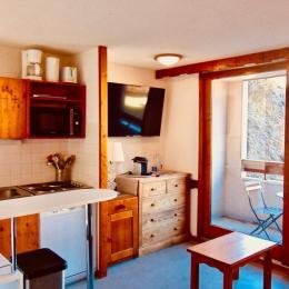 Séjour :T2 tout confort, rénové, 28 m2, 1 Chambre, 3 étoiles, 4/5 pers aux deux alpes - Location de vacances - les Deux Alpes