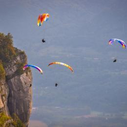 La Vue du Gite Le Nid de St Hil à Saint Hilaire du touvet, Isère en Chartreuse - Location de vacances - Plateau-des-Petites-Roches