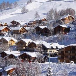 Vue lointaine hiver - Location de vacances - les Deux Alpes